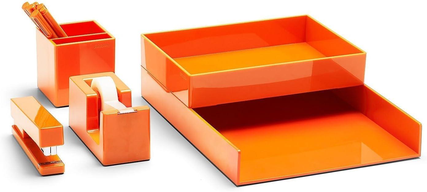 Orange Poppin All Set 12-Piece Desk Collection Set