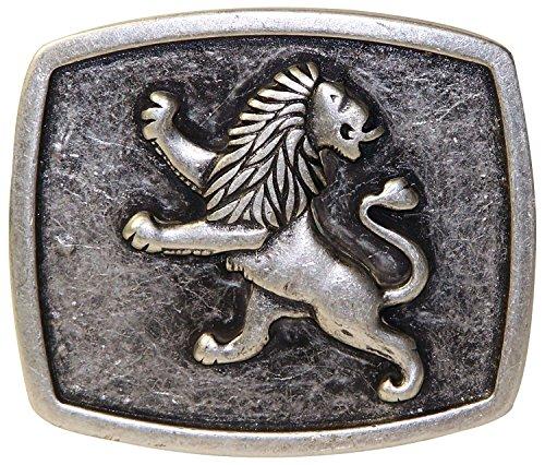 FRONHOFER Oktoberfest buckle, Bavarian lion, antique silver buckle German buckle, Color:Silver color, Size:One Size