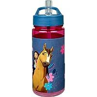Scooli SIPR9913 Aero drinkfles van kunststof met geïntegreerd rietje en drinksteun, DreamWorks Spirit, BPA en…