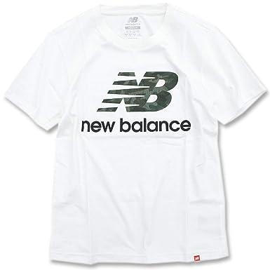 b3c01cb70fb84 Amazon   [ニューバランス] new balance Tシャツ 半袖 メンズ エッセンシャル スタックド ロゴ   Tシャツ・カットソー 通販