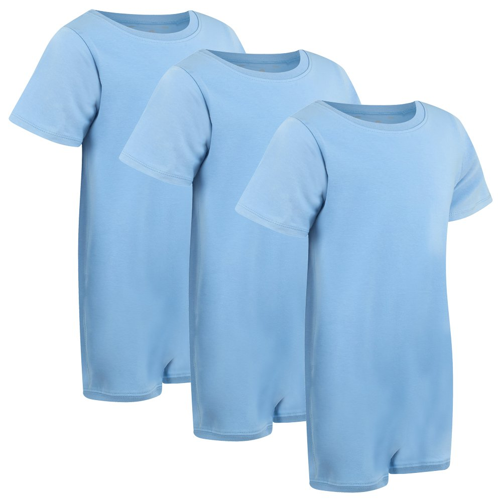 Special Needs Clothing for Older Children (3-16 yrs old) - SHORT SLEEVE Bodysuit for Boys & Girls by KayCey