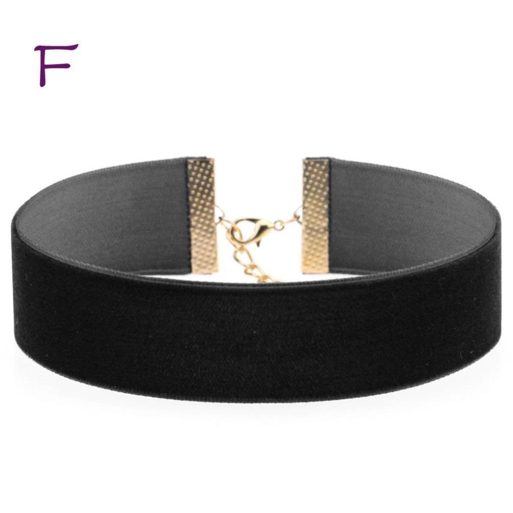Molyveva Velvet Chokers Necklaces Classic Plain Chokers Ribbon Gothic Collar for Women Girls Hot Pepper (Black)