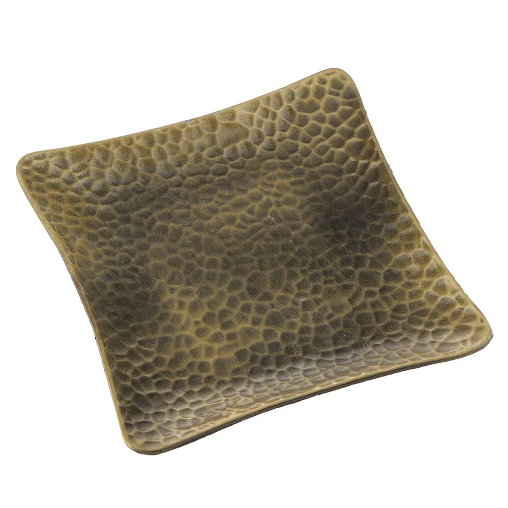 Bronze LOVIVER Classic Square~Alloy Teacup Coaster Candle Holder Mat Tabletop Decor