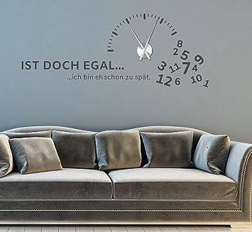 tjapalo® gr-pkm270 Wandtattoo Wohnzimmer modern Wanduhr ...