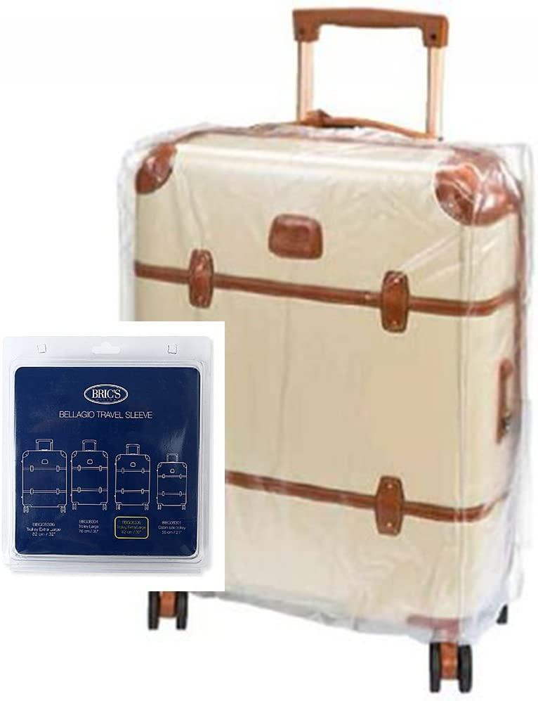 Clear One Size Brics Luggage Bac00936 Bellagio 27 Inch Spinner Transparent Cover