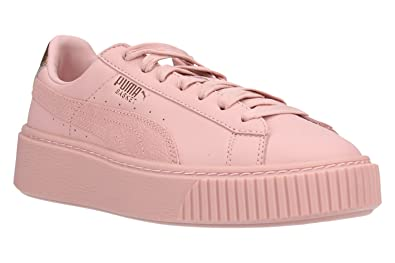 c0145536cefc Puma Shoes Woman Low Sneakers with 366814 03 Basket Platform Euphoria Size  36 Pink Gold