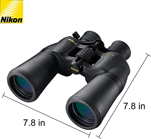 Nikon Aculon A211 10-22×50 Binoculars Black 8252 Bundle with a Tripod Adapter, Nikon Lens Pen, and Lumintrail Cleaning Cloth