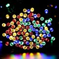 Qedertek 200 LED Solar Christmas Lights, 72 ft Fairy Lights, Home, Patio, Porch, Lawn, Party and Holiday Decorative Lights (Multi Color)