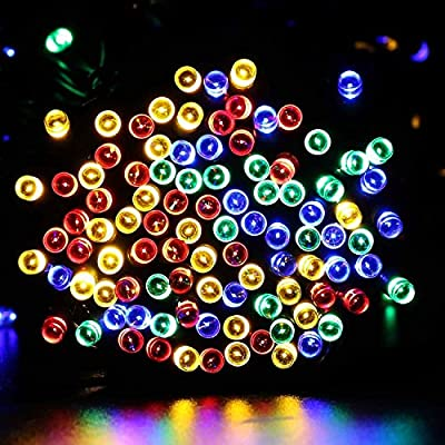 Qedertek Solar String Lights, 72ft 200 LED 8 Modes Fairy Lights for Indoor and Outdoor, Home, Xmas, Yard, Lawn, Weeding, Garden, Patio, party, and Holiday Decorations