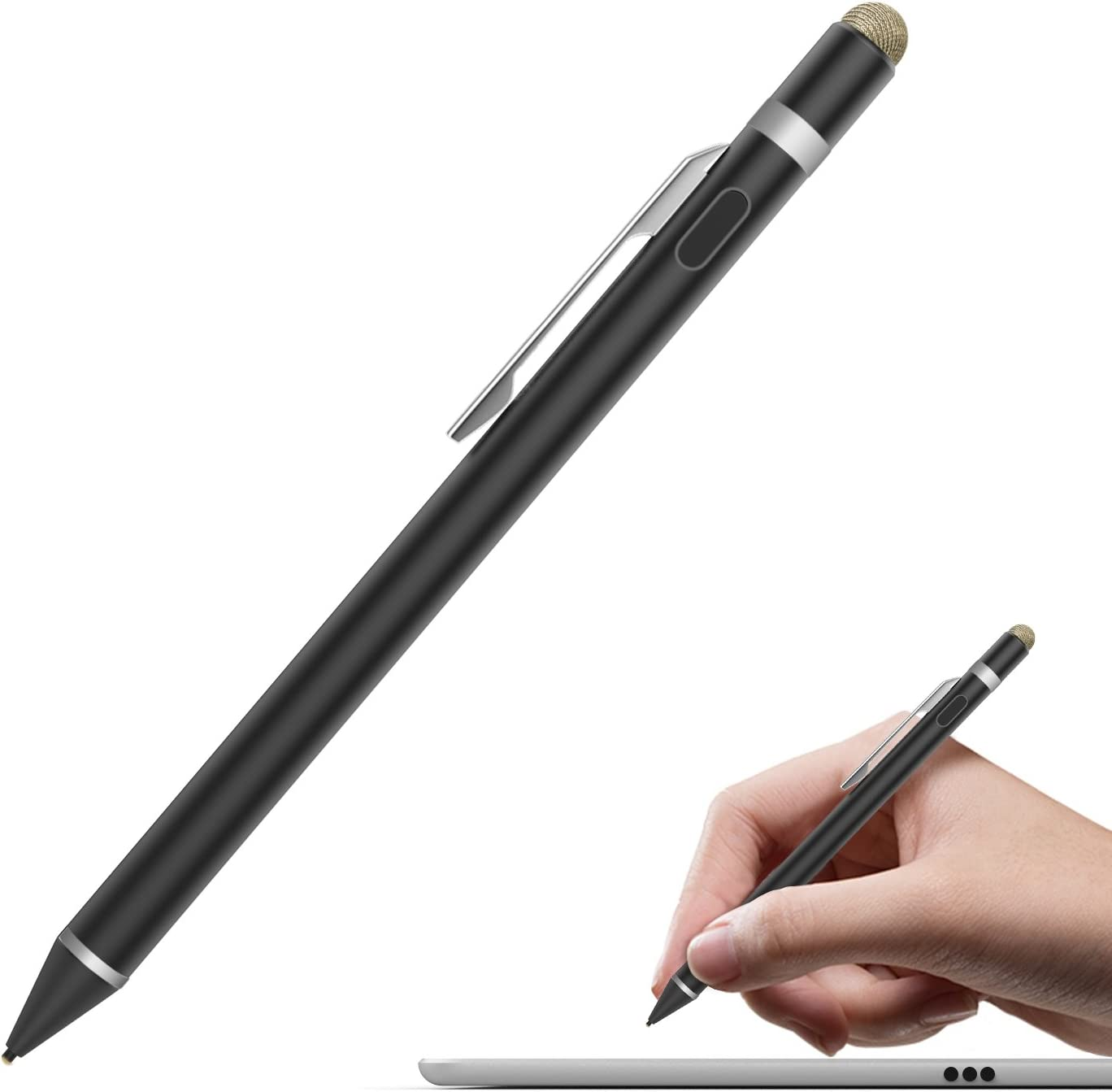 Microsoft iPad Samsung silver MoKo Generic 1.5mm Capacitive Stylus Active Pen