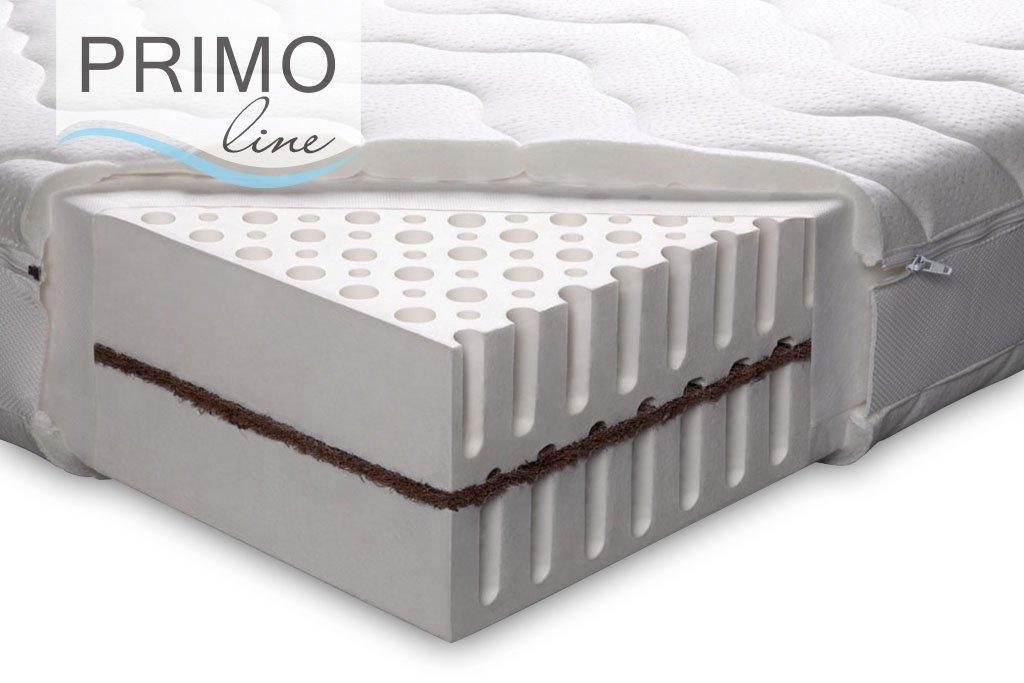 PRIMO Kokos - Colchón 100% látex (Grado de dureza H3, tecnología Dunlop), 90 x 190 x 18: Amazon.es: Hogar