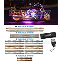 LEDGlow 18 Piece 312 LED Pink Motorcycle Lighting Kit