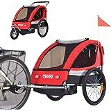 Tiggo barncykelhänge cykelhänge jogger 2-i-1 hänge barnhänge JBT03A-D01 röd
