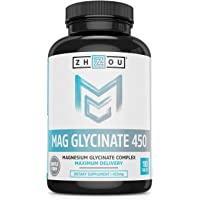 180-Count Zhou Nutrition Magnesium Glycinate Complex 450 mg Tablets