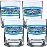 Frank Lloyd Wright Saguaro Flower DOF Double Old Fashioned Glass 14-Ounce Set of 4 For Sale