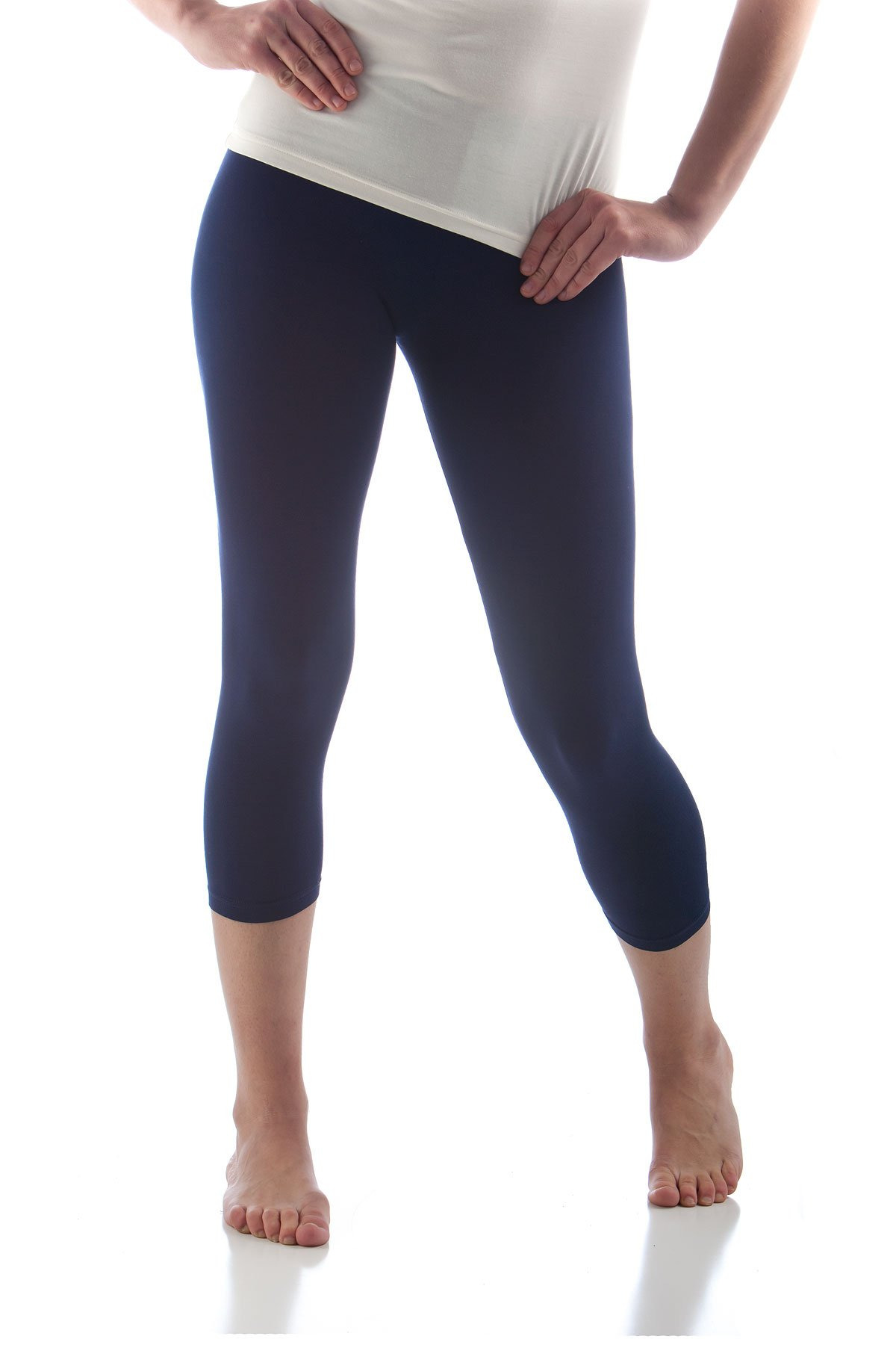 BambooDreams Cropped Leggings Large Navy