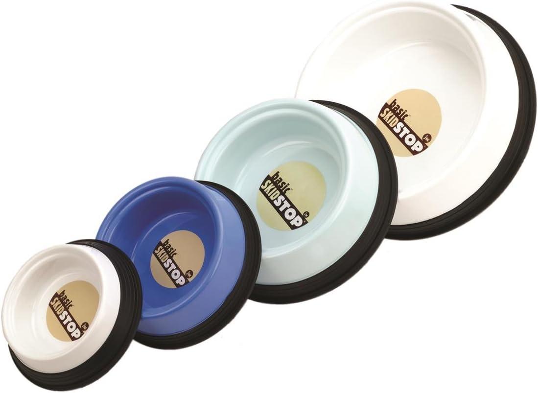 JW Pet Company Skid Stop Basic Pet Bowl, Medium, Colors Vary