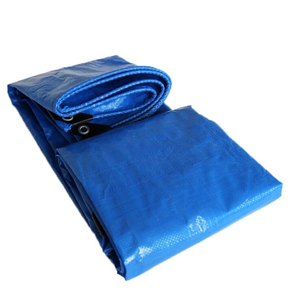 MEIDUO Lonas Tela de Lluvia Azul Lona Lona Lona Parasol Cubierta de Sombra Paño de Tejido de Tela de Grano Tejido de Plástico Polietileno Etileno 120g/㎡-0.3mm para al aire libre (Tamaño : 5mx5m) 14f145