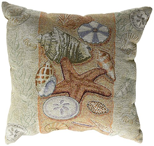 Simply Home Seashell Collection Tapestry Throw Pillow