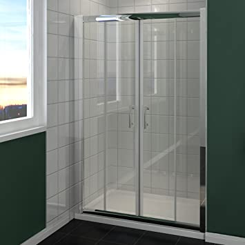1300mm Chrome Double Sliding Shower Door Enclosure Cubicle Glass Screen Door & 1300mm Chrome Double Sliding Shower Door Enclosure Cubicle Glass ... Pezcame.Com