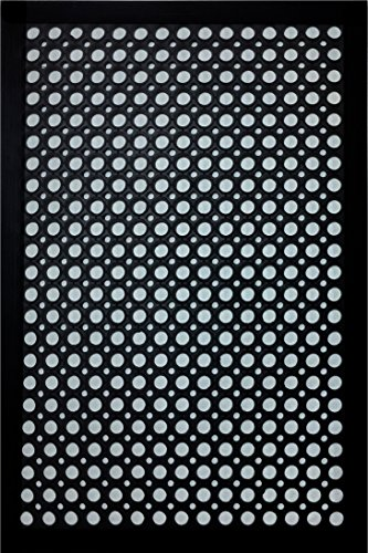 Shepherd Hardware 8102E Indoor/Outdoor Recycled, 24 x 36 x 1/2 Inches, Black Rubber Mat, 24 x 36 Inch,