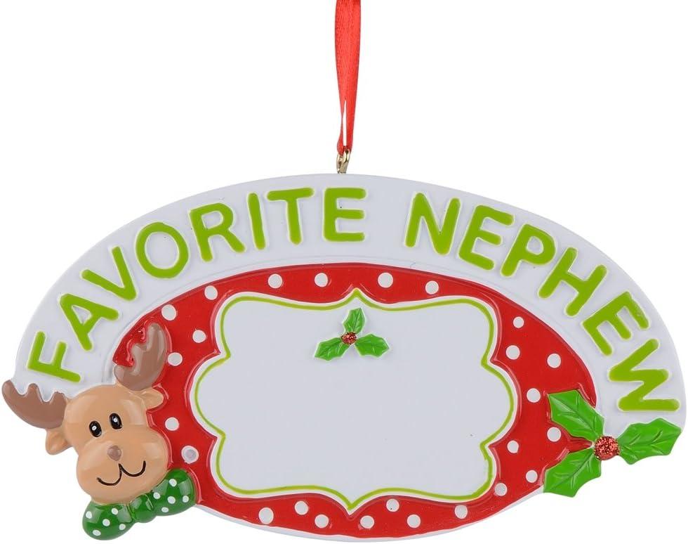 Amazon Com Maxora Personalized Christmas Ornament For Favorite Nephew Handmade Customized Home Kitchen