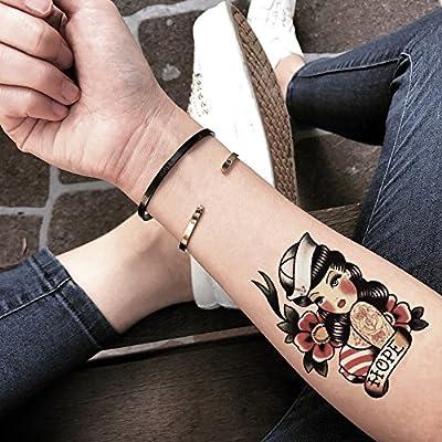 Tatuaje Temporal de Pin Up Girl Color (2 Piezas) - www.ohmytat.com ...