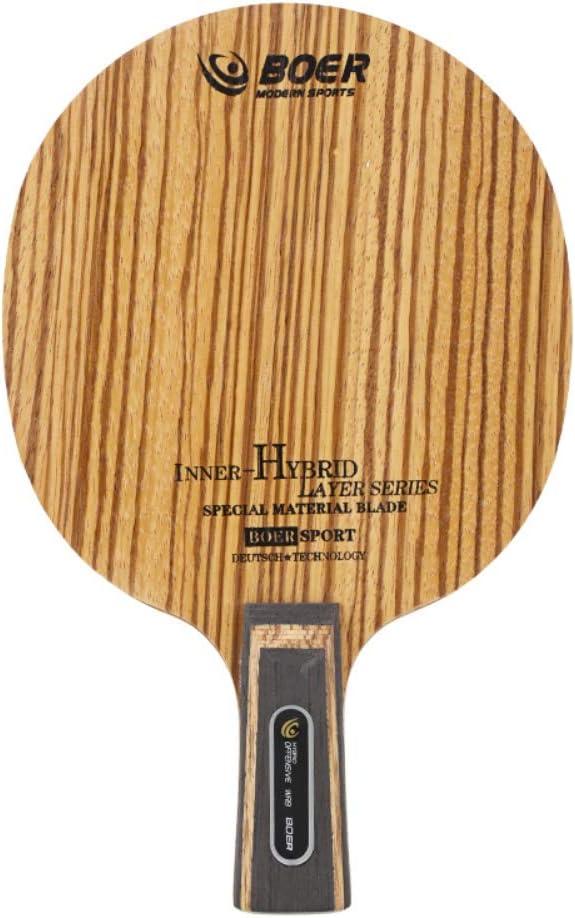 Etopfashion Tenis de Mesa Simple Blade Ligero Durable Ping Pong Accesorios de la Raqueta de Madera