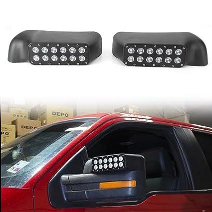 Gzyf White Amber Sidelight Rearview Side Mirror Led Turn Signal Light Running Lamp For