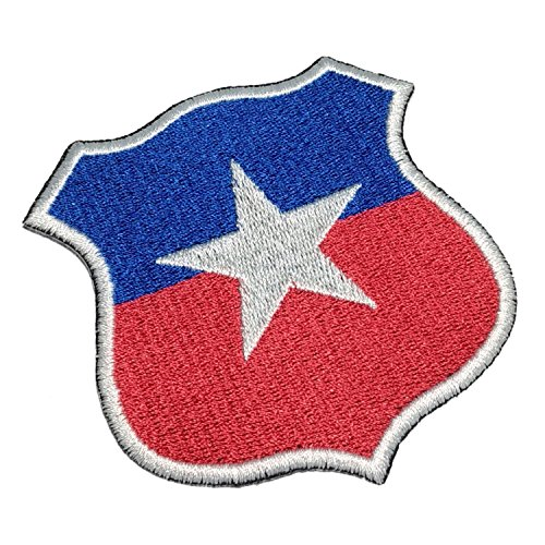 TICL004 Chile Shield Football Soccer Embroidered Patch Iron or Sew - Soccer Ball Embroidered Iron