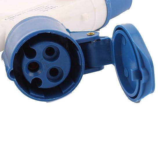 eDealMax AC 220V-250V 16A IP44 2P + E 3P macho a hembra Mutiple-salida Industrial Socket - - Amazon.com