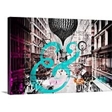 Circle Art Group Premium Thick-Wrap Canvas Wall Art Print entitled Urban Collage I - Ampersand