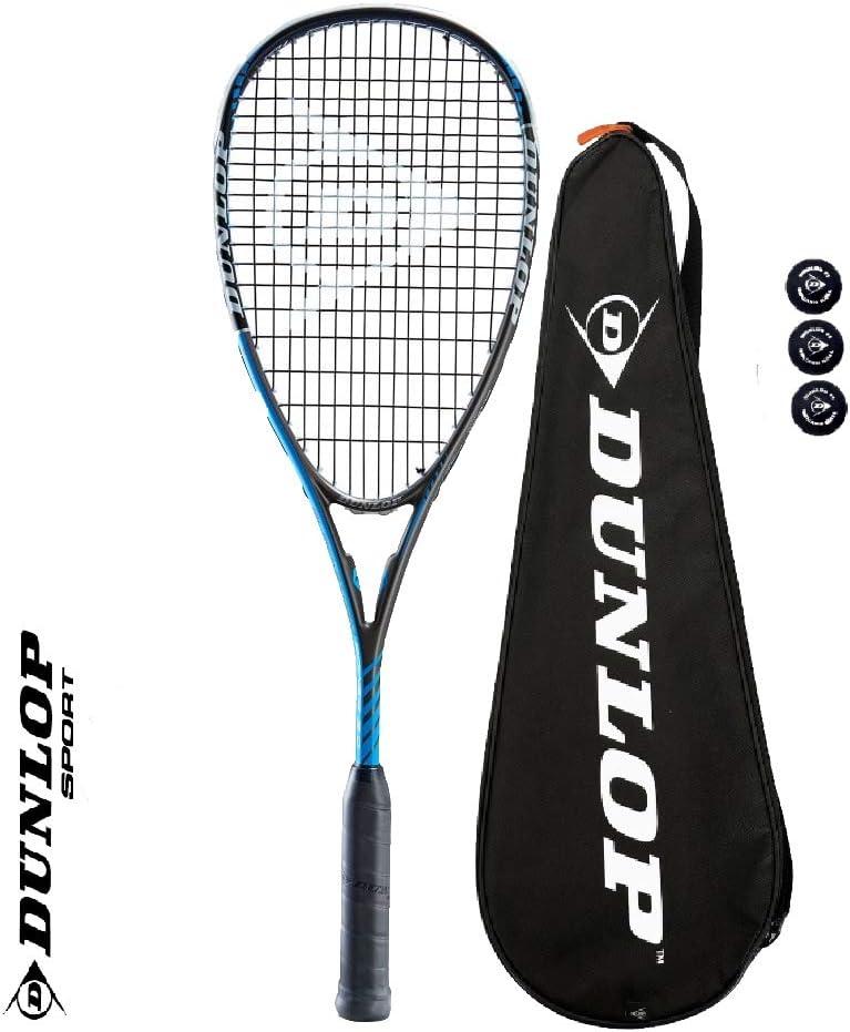DUNLOP Blackstorm Power 3.0 - Raqueta de Squash y Pelotas