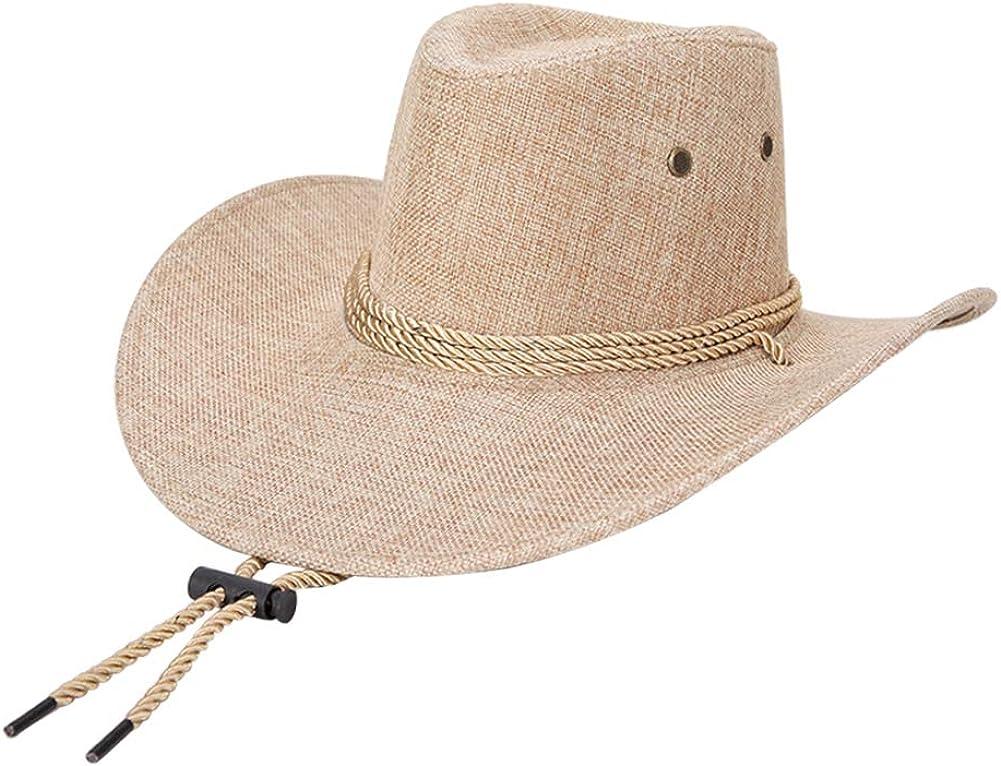 1 St/ück Fansi Unisex Cowboy Hut Sonnenschirmm/ütze Sonnenschutz Sonnenhut H/übscher Cowboyhut Verstellbarer Cowboyhut