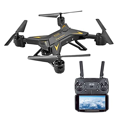 Jeeke KY601S FPV WiFi 1080P HD Camera Drones with Cameradrones 2.4G 4CH RC Quadcopter for Beginners (Black, 12.9x12.9 inch/4.3x5.9 inch): Sports & Outdoors