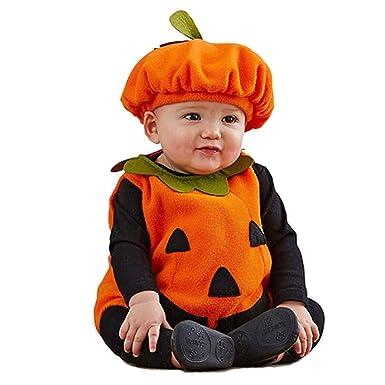 mama stadt Disfraz Calabaza Bebe Halloween, Unisex Niños Disfraces ...