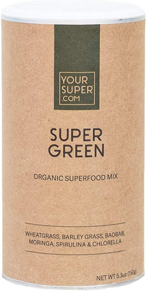 Super Green Superfood Mix by Your Super Plant Based Immune System Support Powder Greens Blend Immunity Support Essential Vitamins Minerals Non-GMO, Organic Ingredients