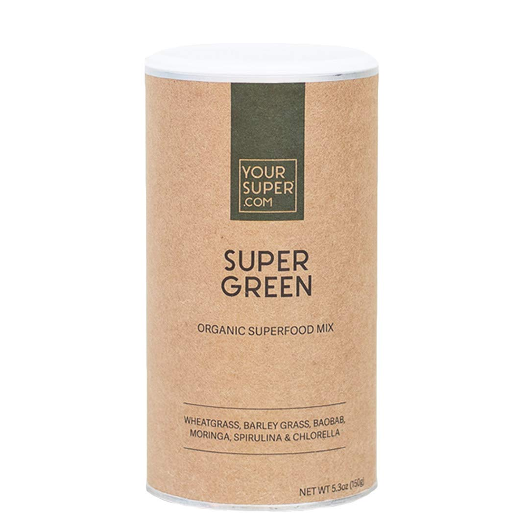 Super Green Superfood Mix by Your Super | Plant Based Immune System Support | Powder Greens Blend | Immunity Support | Essential Vitamins & Minerals | Non-GMO, Organic Ingredients by Your Super