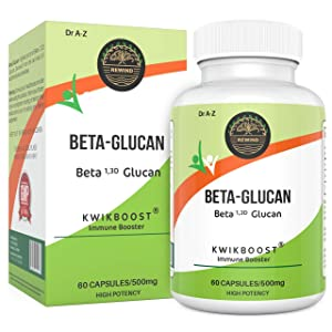 Nature's Pure Super Beta 1,3 Glucan 500mg KwikBoost Immune System Booster & Support (60 Capsules)