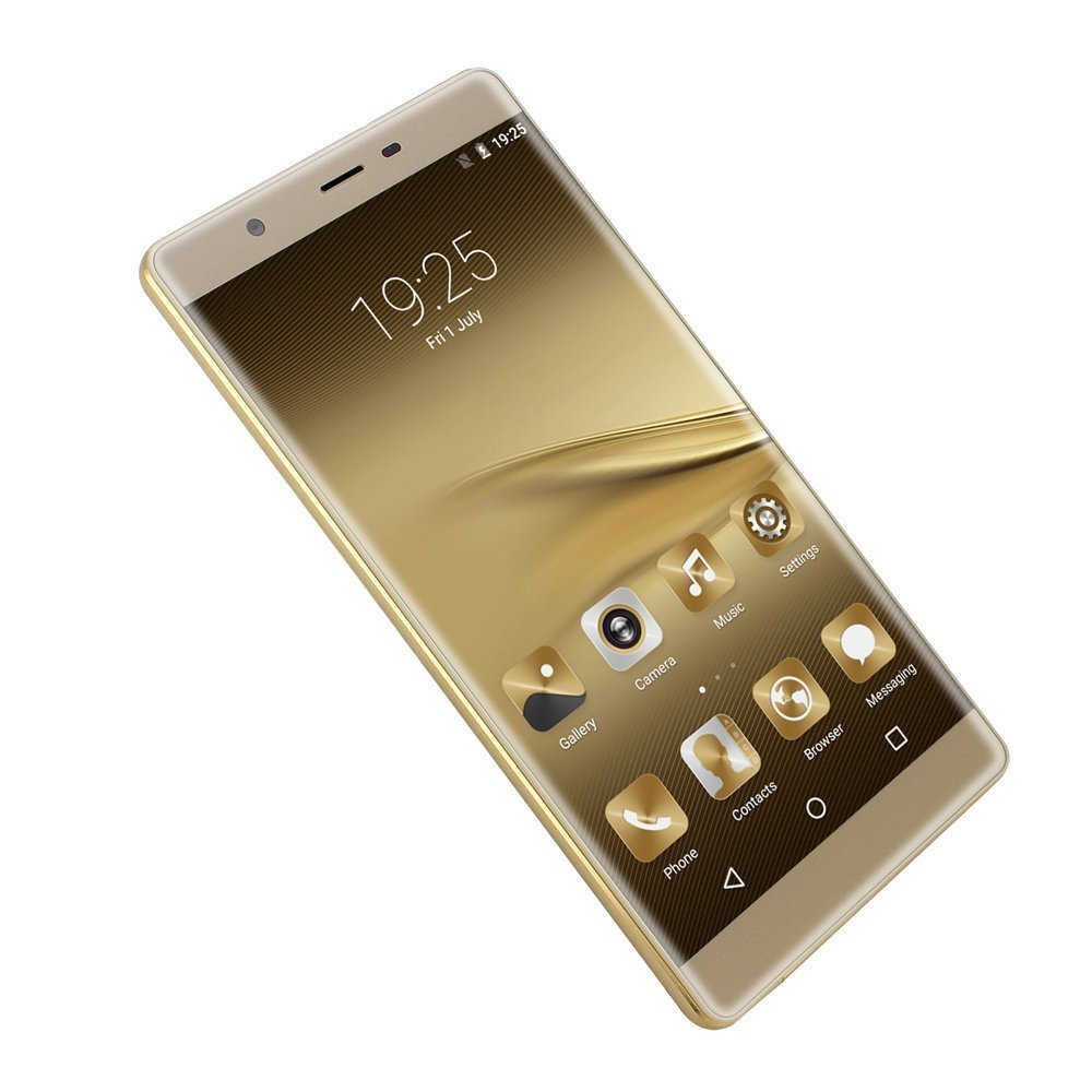 SORAKA Unlocked Smartphone 6.0 Zoll 3G Android 5.1 Quad-Core-Smartphone 5.0MP dual sim smartphone(Gold)