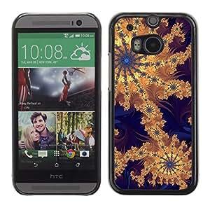 TECHCASE**Cubierta de la caja de protección la piel dura para el ** HTC One M8 ** Wallpaper Pattern Design Artwork Drawing