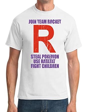 c4a0a97e Join Team Rocket - Steal Pokemon - Use Ratatat - DTG Print Kids T-Shirt:  Amazon.co.uk: Clothing
