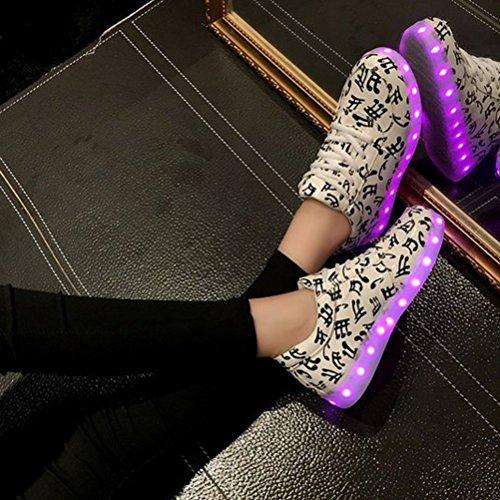 [+Pequeña toalla]De carga USB zapatos de los niños chicos que emite luz zapatos zapatos de los zapatos luminosos LED iluminados deportiva c41