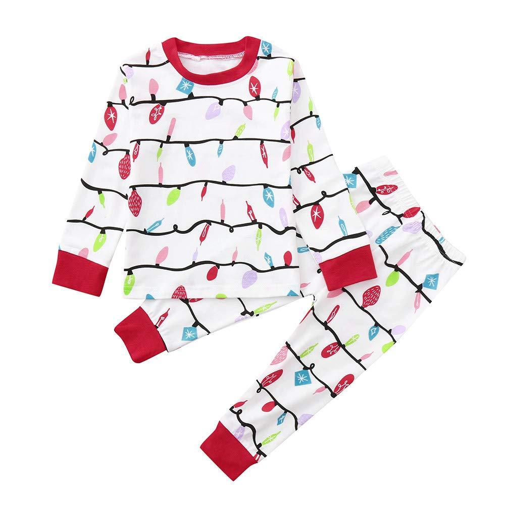 品質は非常に良い VonVonCo キッズ ホワイト B07KB3RRN2 ベビー 男の子 女の子 Tシャツ トップス パンツ ファミリーパジャマ ホワイト 寝間着 クリスマス 服 90 ホワイト 90 ホワイト B07KB3RRN2, 佐勘金物店:dea516f9 --- a0267596.xsph.ru