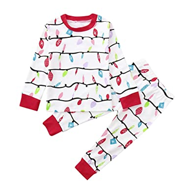 987580a3 Matching Family Pajamas Sets, Christmas Tops Flannel T Shirt Sleepwear  Cotton Kids PJs Outfits (
