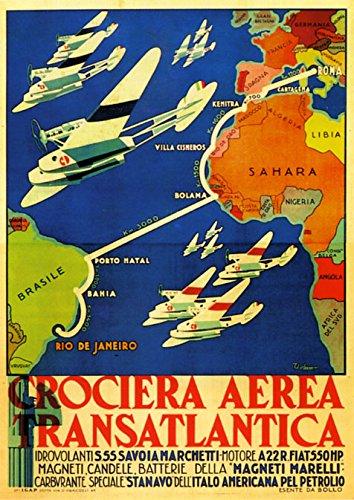 - Italy Italia Rome to Rio de Janeiro Brazil Airplanes Travel Tourism 16