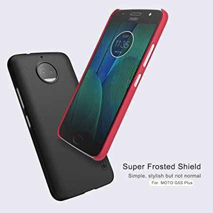 best service 6861f 20e24 Nillkin Super Frosted Shield Hard Back Cover Case for Moto G5s Plus - Black