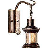 Lámpara de pared de cristal vintage Retro Metal