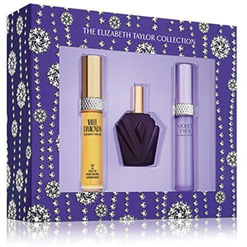 Elizabeth Taylor 3 PIECE FRAGRANCE GIFT SET in Box: White Diamonds, Passion, Violet Eyes by House of Taylor NY