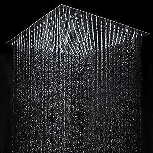 aquamarin alcachofa de ducha efecto lluvia cuadrada bricolaje y herramientas. Black Bedroom Furniture Sets. Home Design Ideas